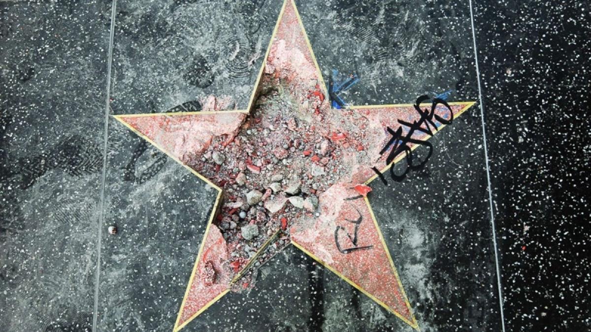 US President Donald Trump's Hollywood Walk of Fame star vandalised