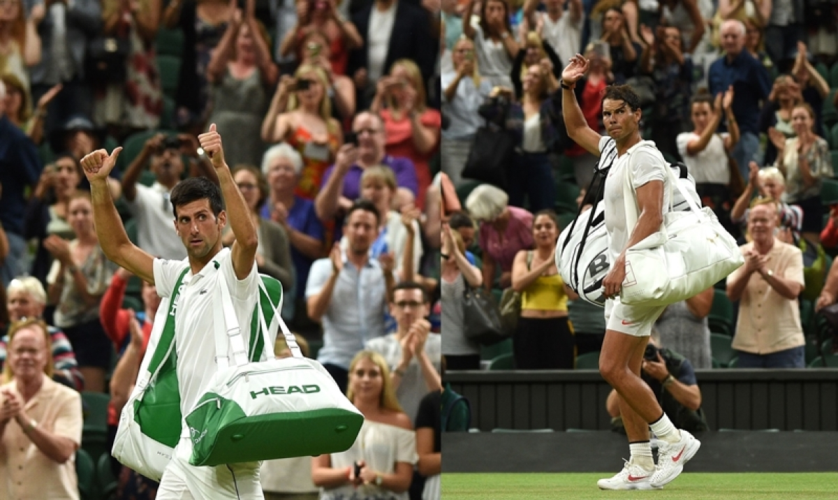 Wimbledon 2018: Novak Djokovic leads Rafael Nadal as semi-final halted for night