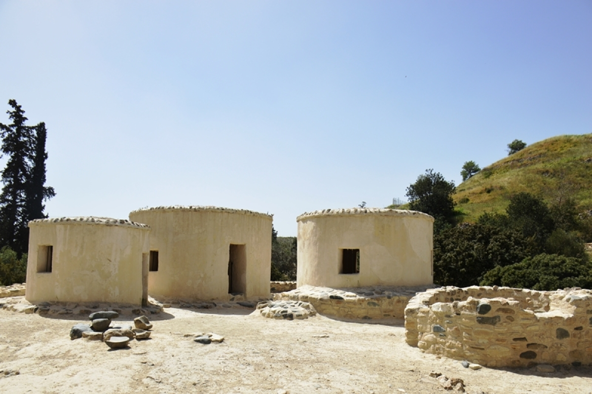 Reconstructed homes of Choirokoitia neolithic site