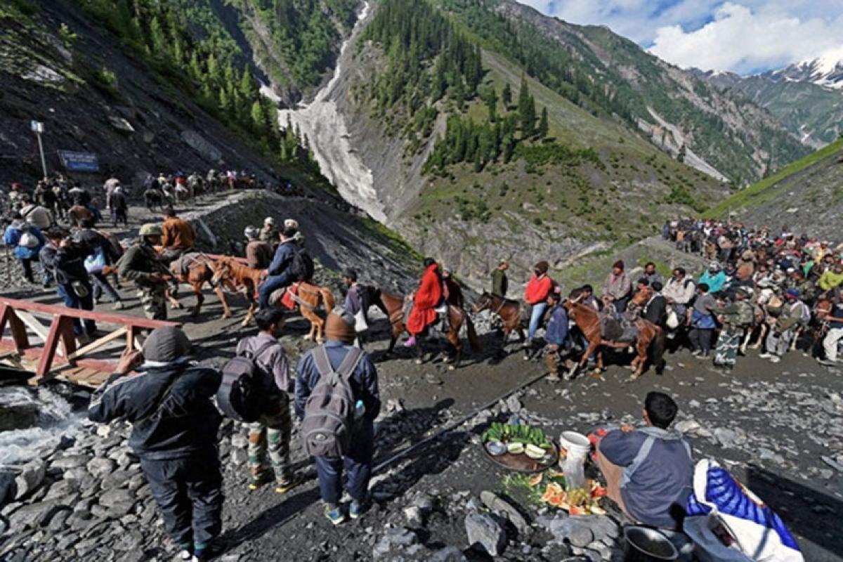 Jammu and Kashmir: Amarnath Yatra suspended for 3 days