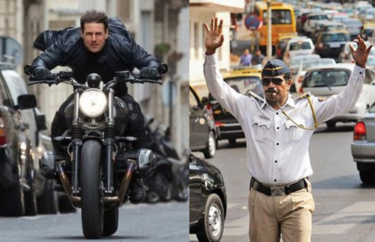 Don't go Tom Cruise-ing! Road safety is not a 'Mission Impossible' for Mumbai Police