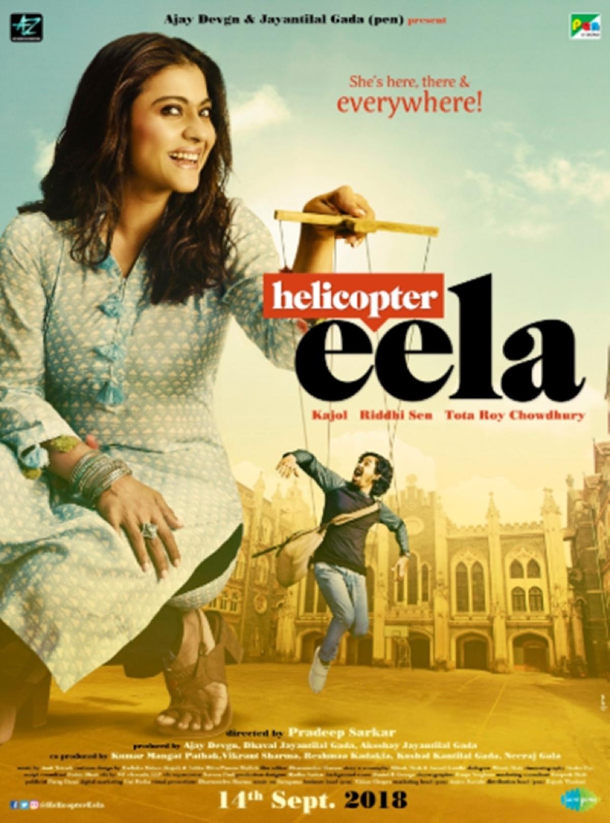 Kajol unveils new poster of Pradeep Sarkar's 'Helicopter Eela'