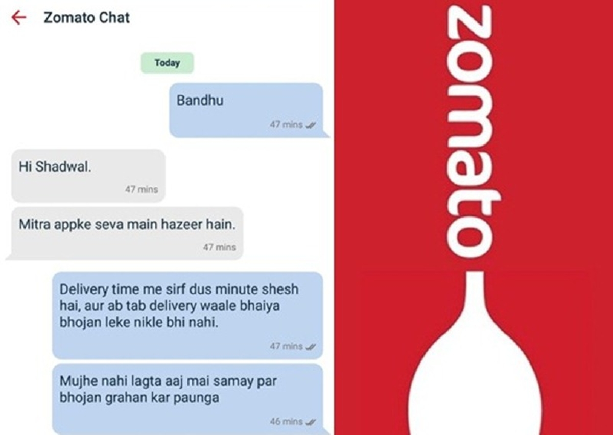 Mumbai man chats with Zomato executive in shudh Hindi, and the outcome is hilarious; Check out