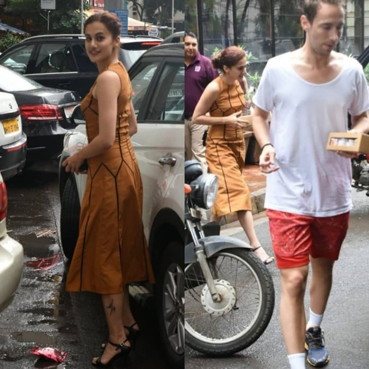 Spotted! Taapsee Pannu all smiles with Danish boyfriend Mathias Boe post lunch date
