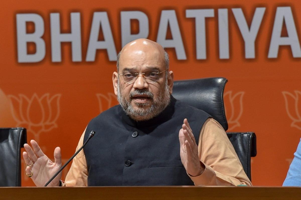 Congress leaders are ashamed of saying 'Bharat Mata Ki Jai', claims Amit Shah