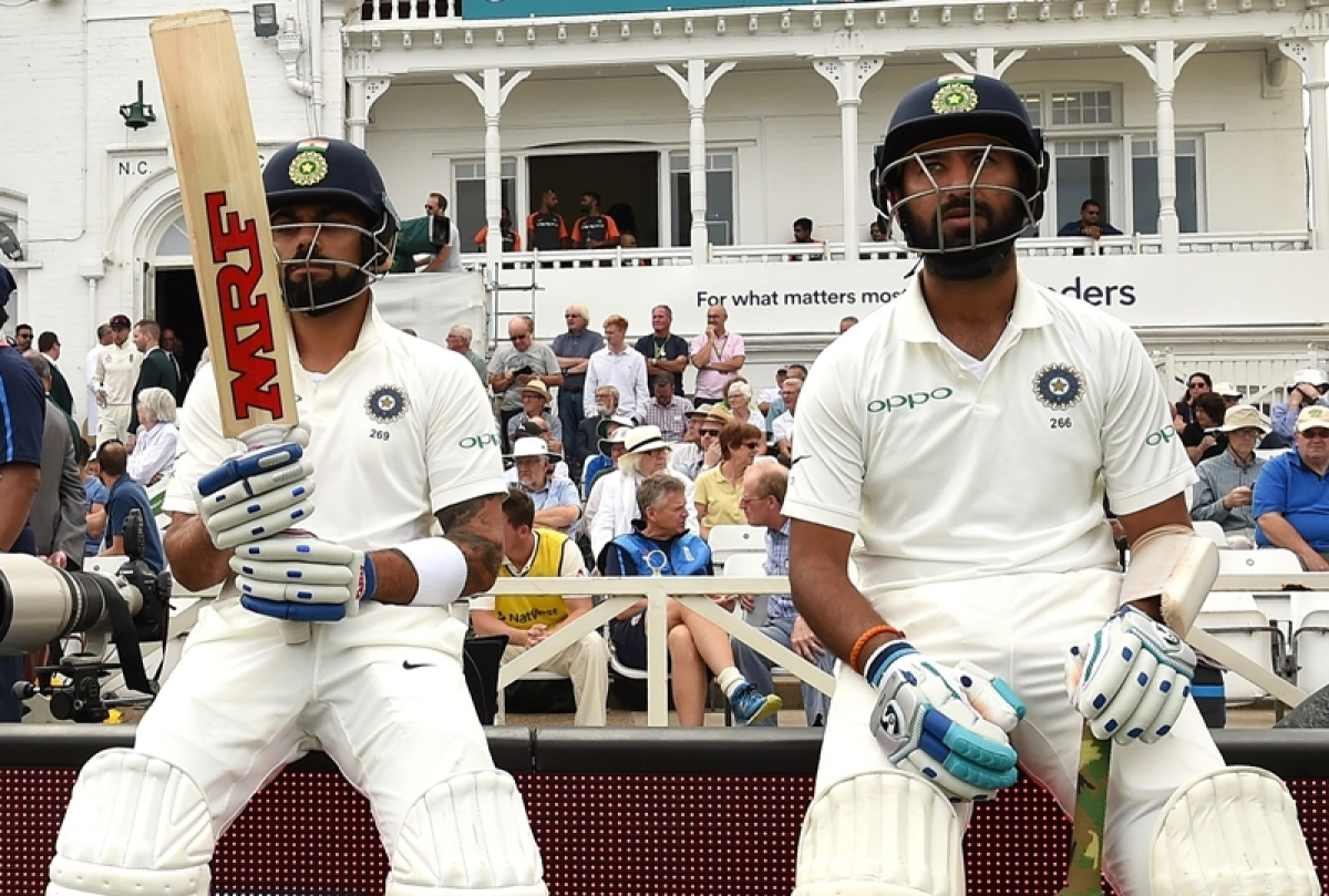 India vs England 3rd Test Day 3: Pujara, Kohli's fifties helps India to take lead of 362 runs at Lunch