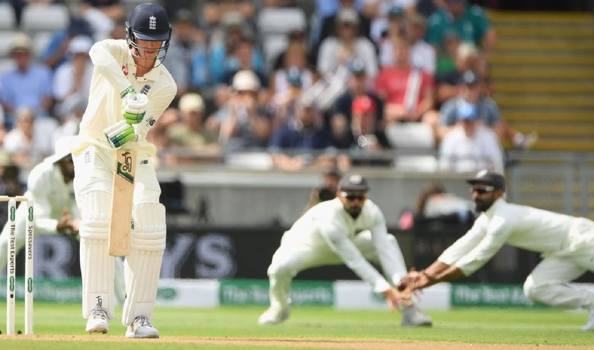 Who's catch was that! Rahane drops Keaton Jennings and Virat's expression says it all; Watch video