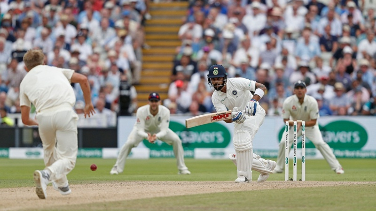 India vs England 1st Test: Virat Kohli stands firm as India need 84 more runs to win