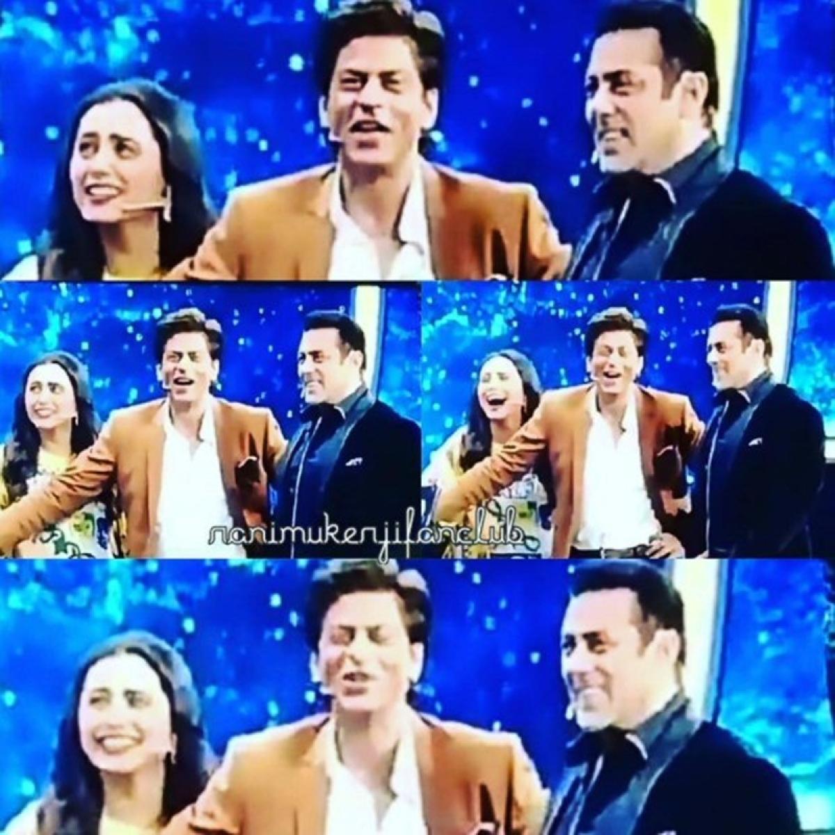 WOW! Rani Mukerji joins Karan Arjun stars Shah Rukh Khan and Salman Khan on Dus Ka Dum; see pics
