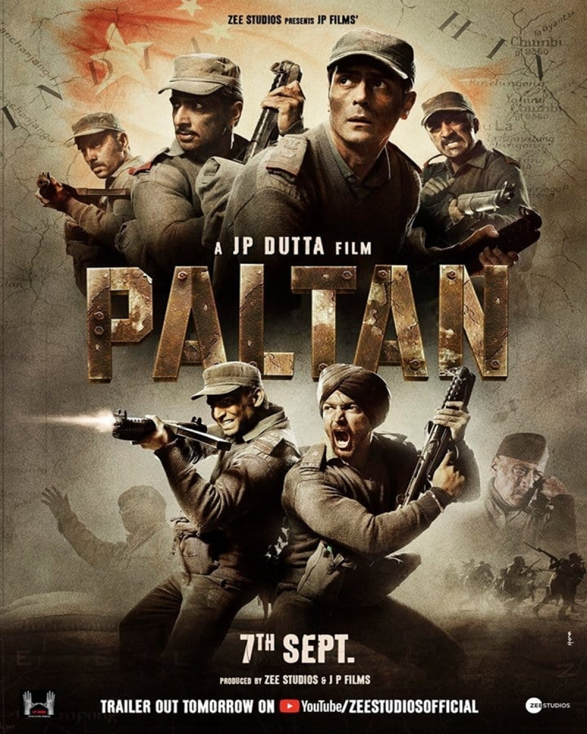 Paltan's new poster introduces J P Dutta's full Indian Army Squad, trailer out tomorrow