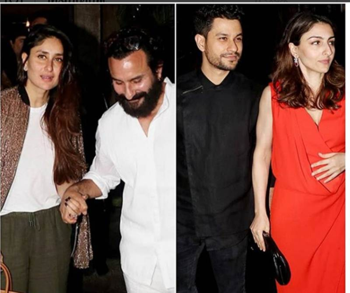 Must watch! Saif Ali Khan and Kareena Kapoor Khan's dinner date with Soha and Kunal, without Taimur and Inaaya