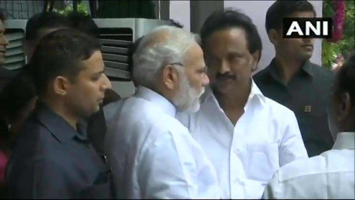 Karunanidhi Passes Away: PM Narendra Modi pays homage to late DMK chief