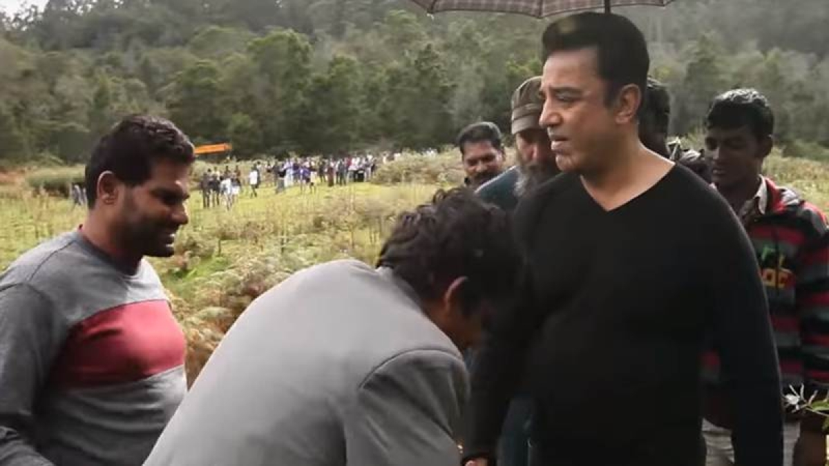 In making video of Vishwaroopam 2, Kamal Haasan's high intensity stunt will leave you stunned