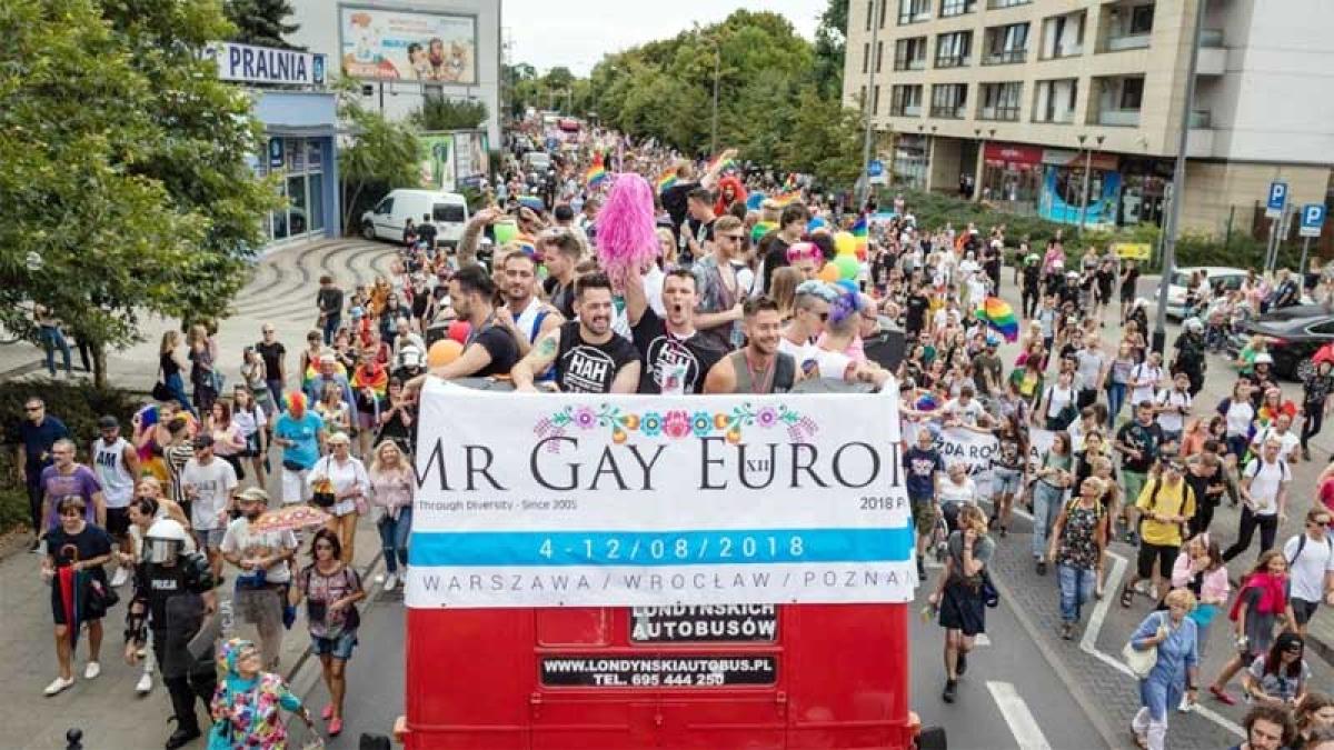 Mr Gay Europe crowned in Poland