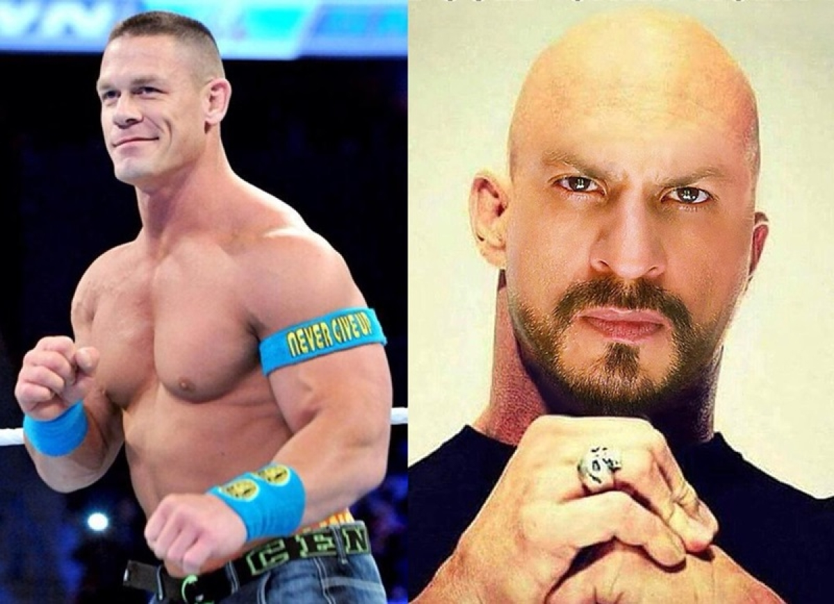 Hacked? John Cena posts a 'bald Shah Rukh Khan' on his Instagram! See pic