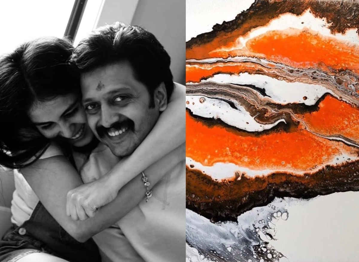 Check out Riteish Deshmukh's 'artsy' gesture on wife Genelia's birthday