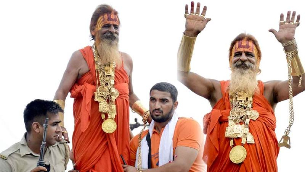 Golden baba is going to wear 20kg gold jewellery in Kanwar Yatra which is approximately worth Rs 6 crore