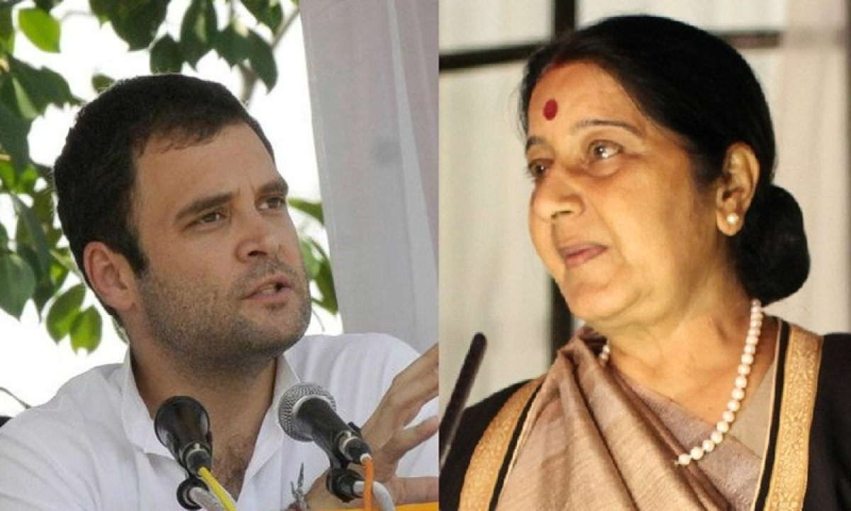 Rahul Gandhi slams Sushma Swaraj over Doklam, says 'Amazing how she buckled'
