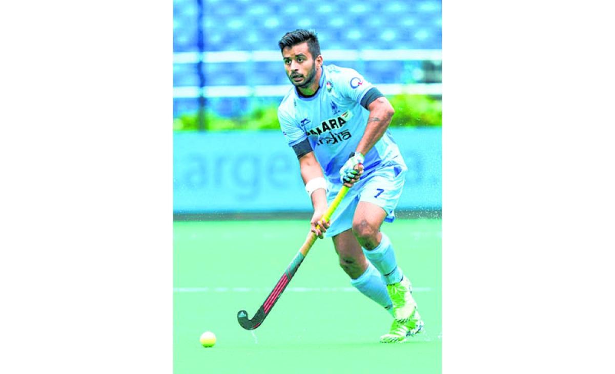 ANTWERP -   Indian Manpreet Singh  during  the match India v Poland (3-0)  WSP COPYRIGHT KOEN SUYK