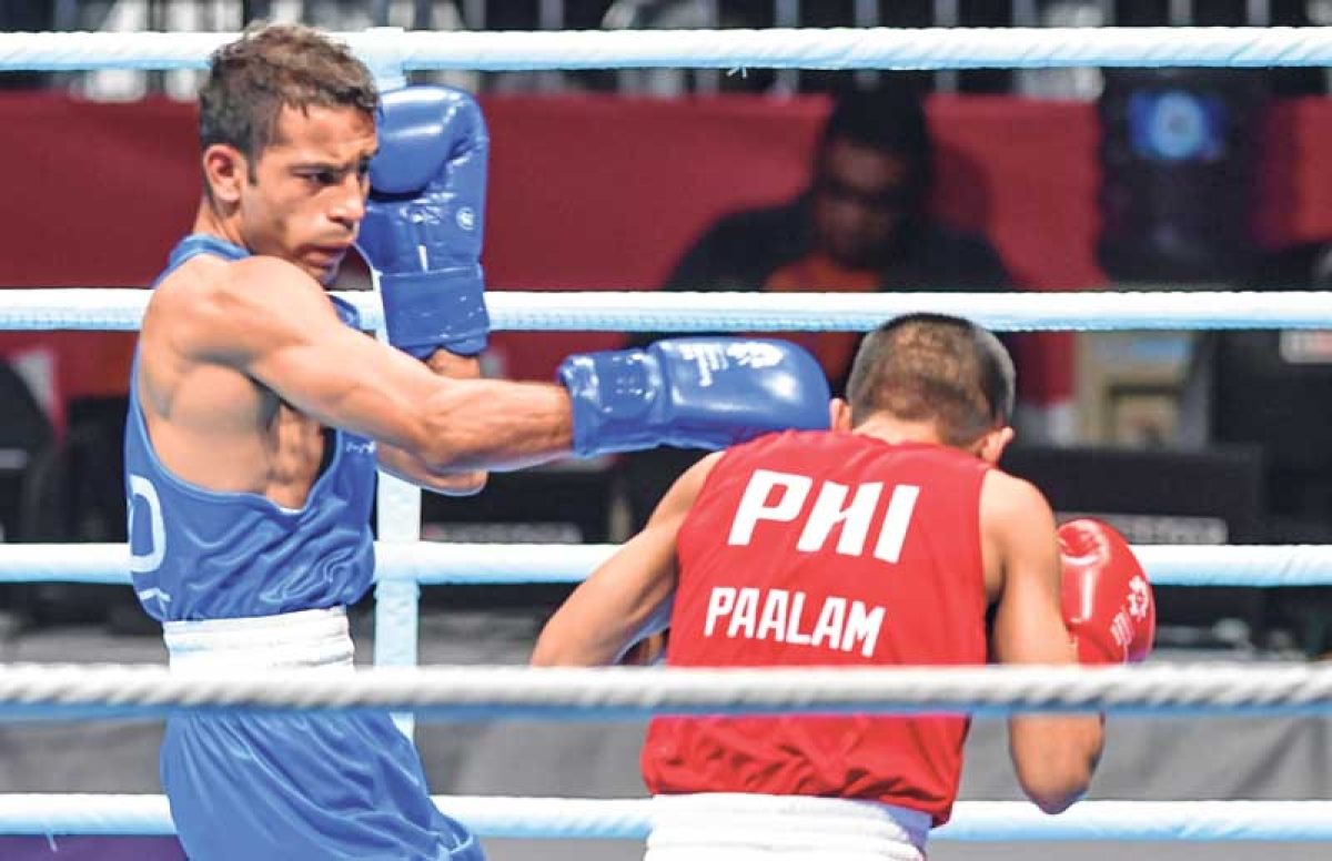 Asian Games : Boxer Amit to fight for gold, injured Vikas bags bronze
