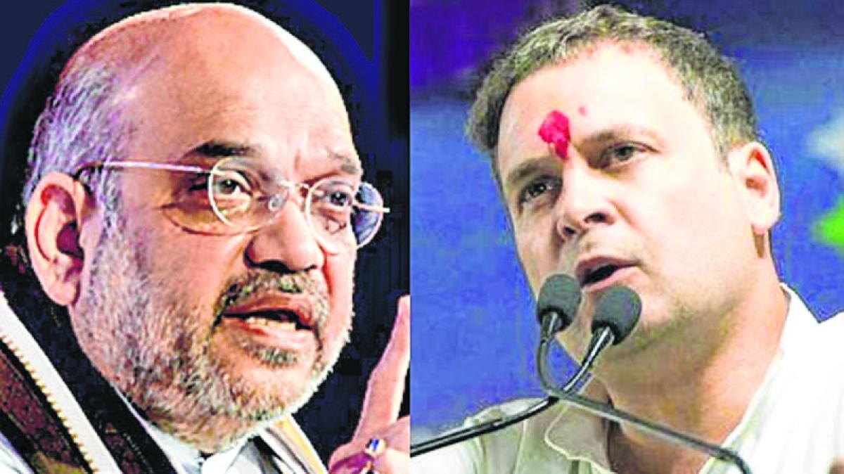 Chhattisgarh Assembly elections 2018:  Amit Shah, Rahul Gandhi trade barbs