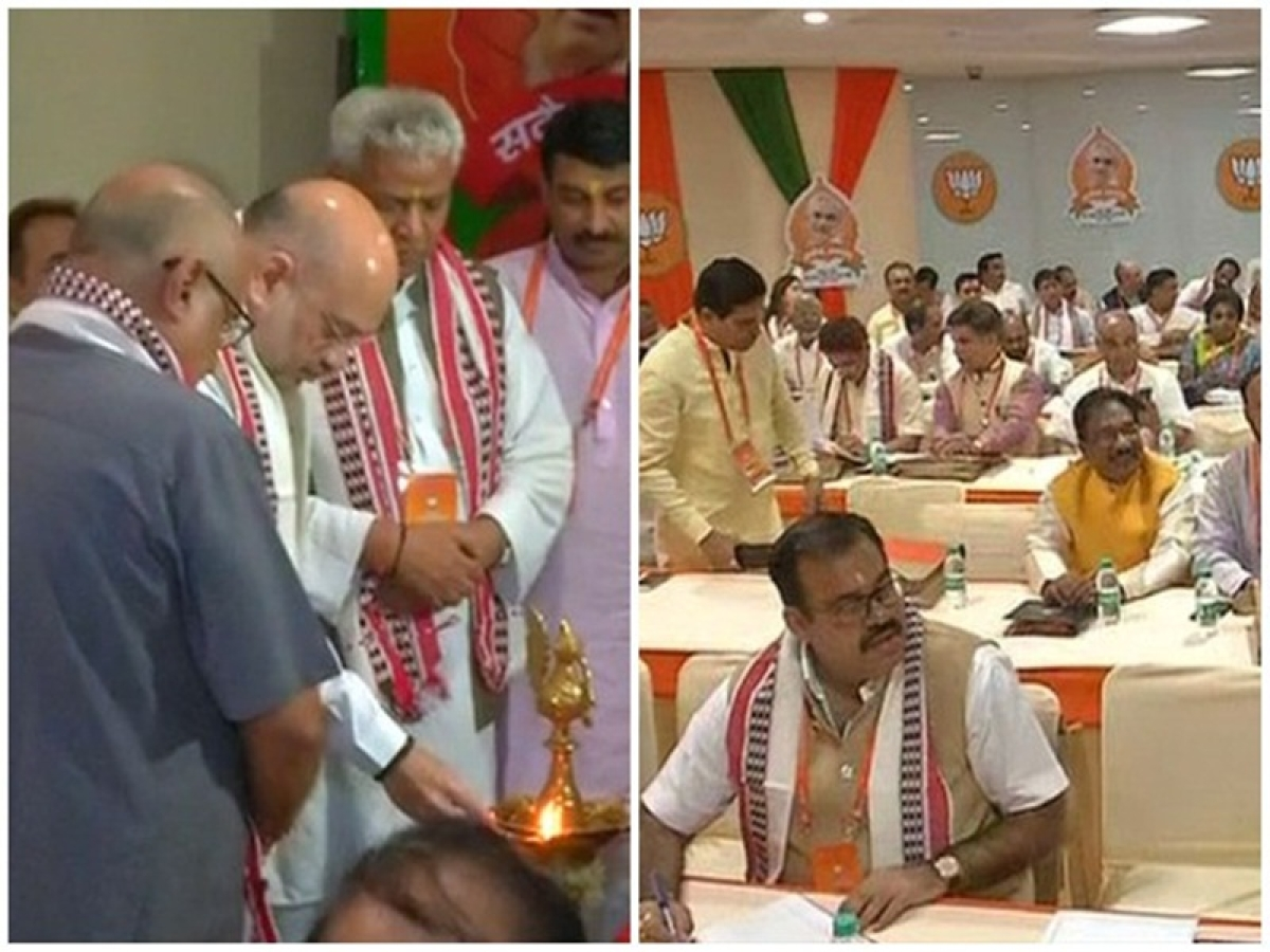 Amit Shah inaugurates BJP national office bearers' meeting