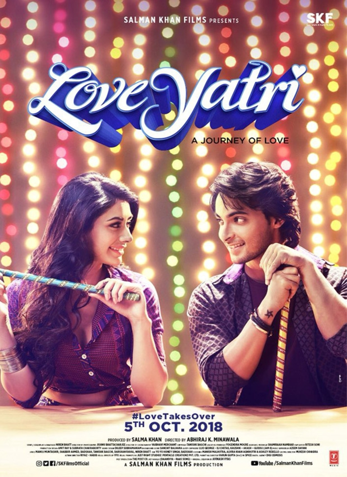Salman Khan changes Aayush Sharma-Warina Hussain's film name 'Loveratri' to 'Love Yatri'