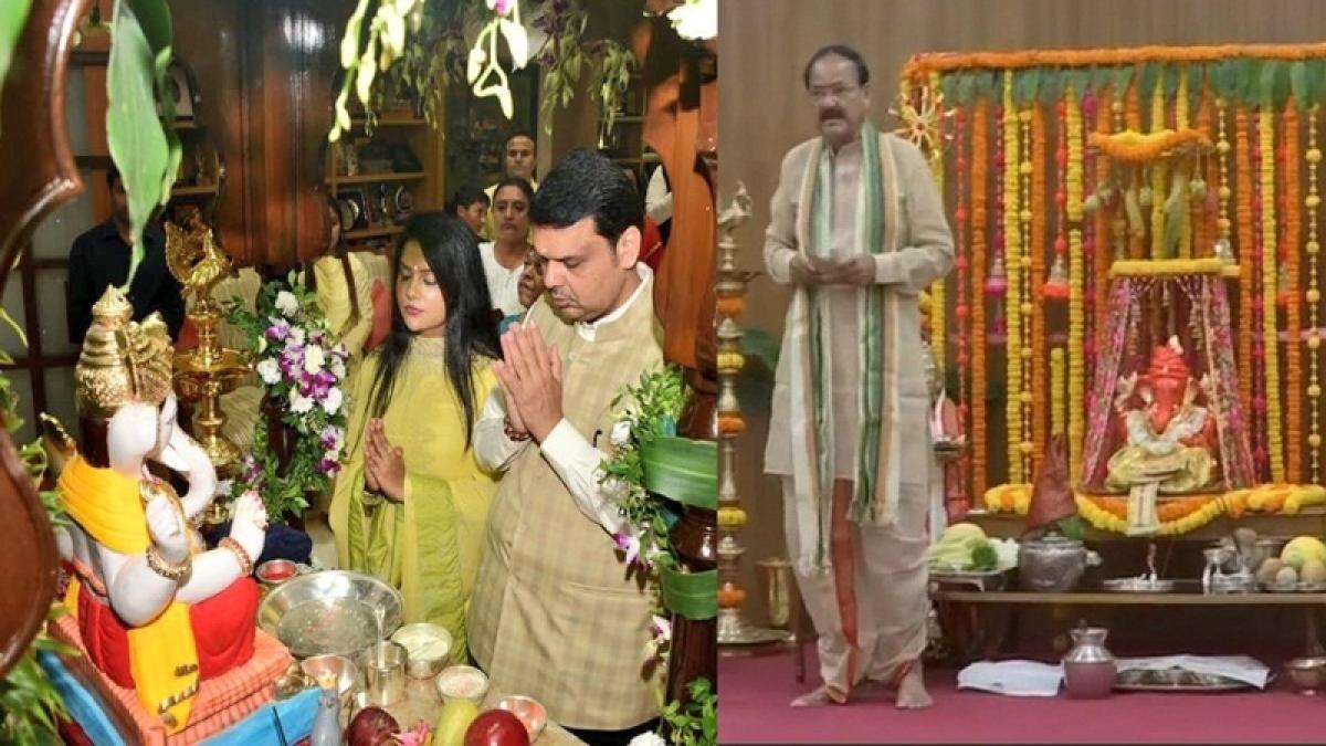 Ganesh Chaturthi 2018: Devendra Fadnavis to Venkaiah Naidu, politicians welcome Ganpati Bappa; See Pics