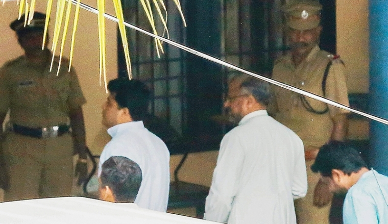 Bishop Franco Mulakkal, accused of raping a nun, appears for questioning. PTI Photo