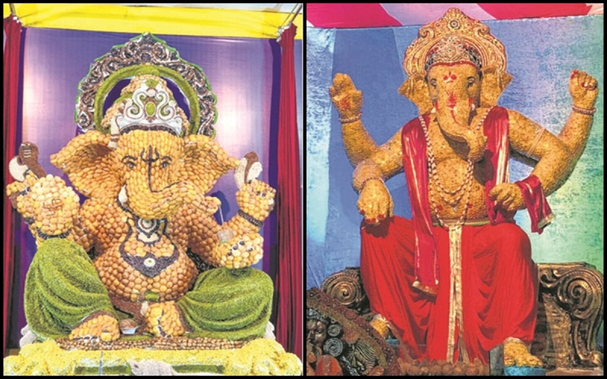 Mumbai: Innovative ideas attracted devotees in some mandals