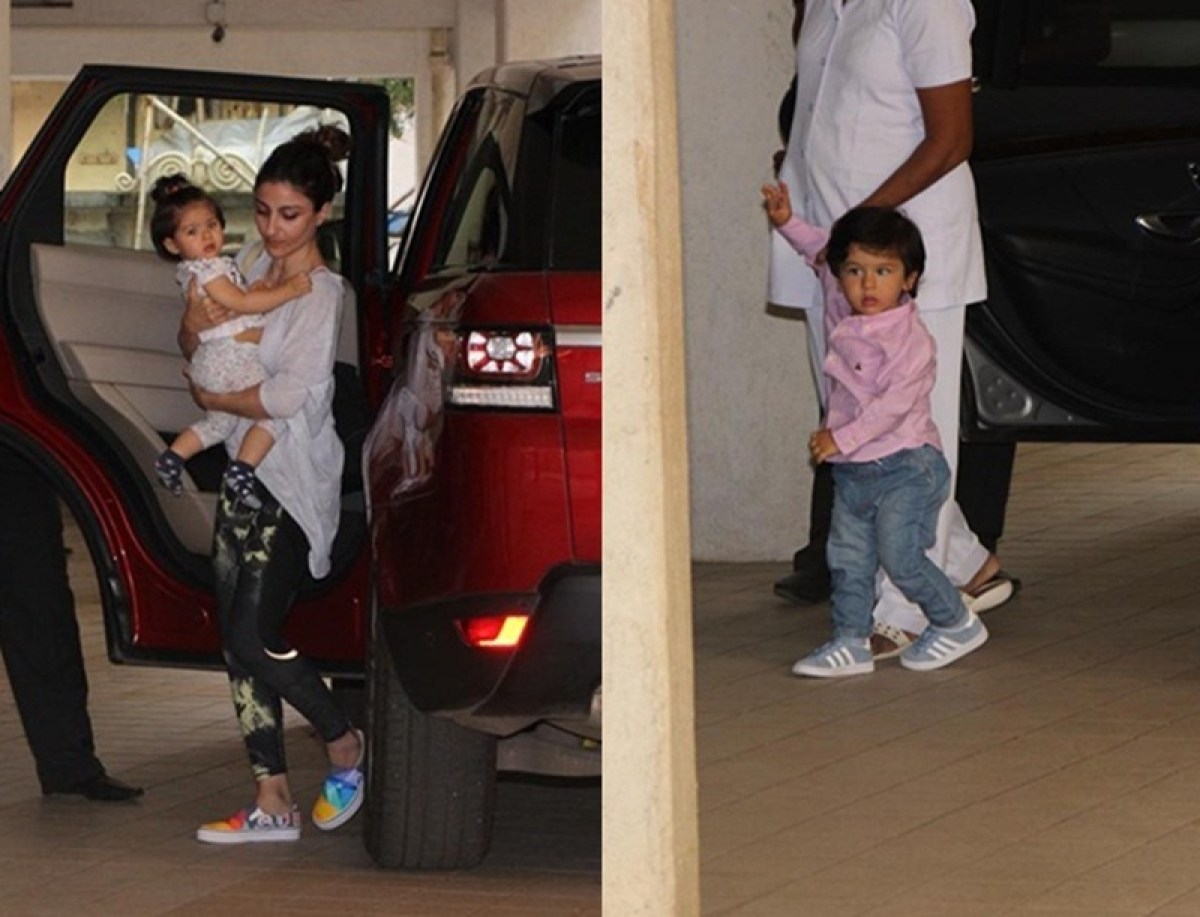 Taimur Ali Khan and Inaaya Naumi Kemmu go on a play-date in Mumbai; see pictures