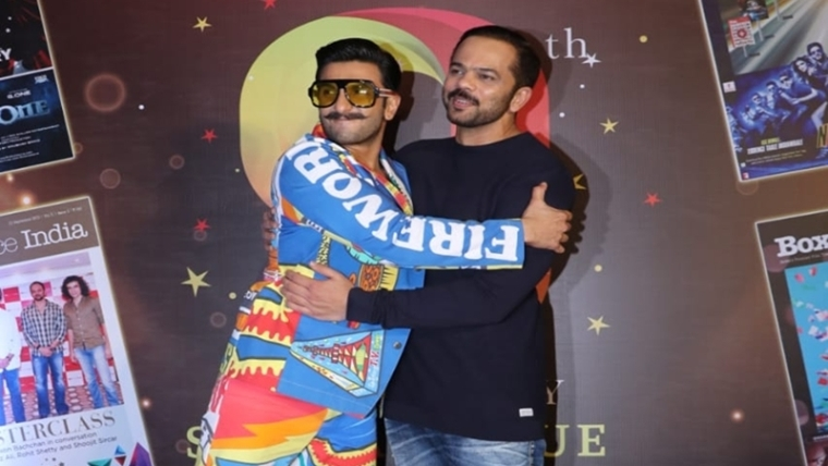 Ranveer Singh and Rohit Shetty. Photo By Viral Bhayani