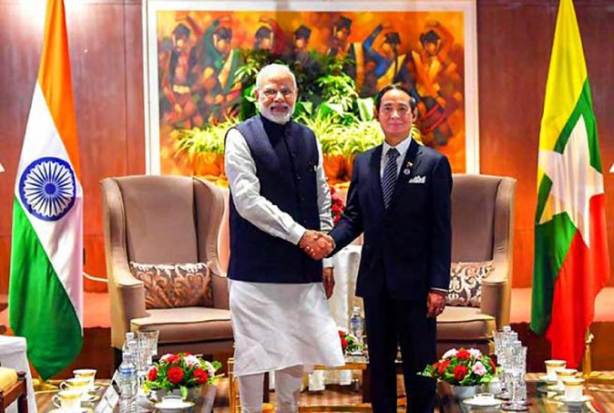 PM Modi meets Myanmar Prez, Thai premier to boost ties