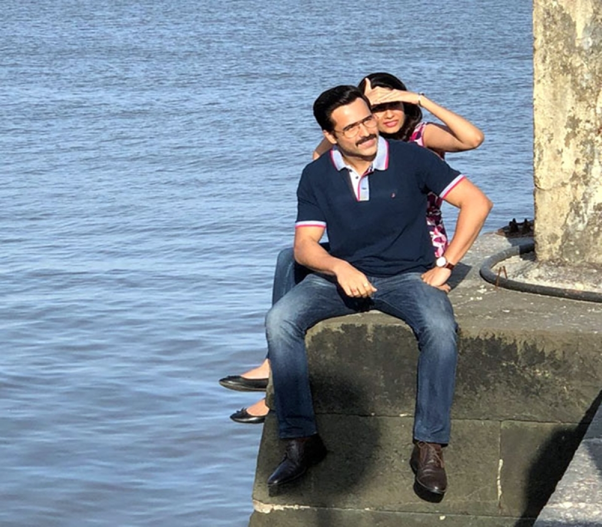 In Pics: Emraan Hashmi and his leading lady Shreya Dhanwanthary shoot for Cheat India in Mumbai