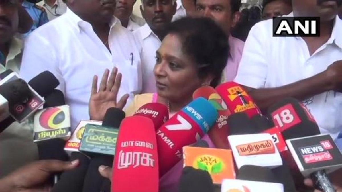 DMK in touch with BJP:BJP Tamil Nadu chief Tamilisai Soundararajan