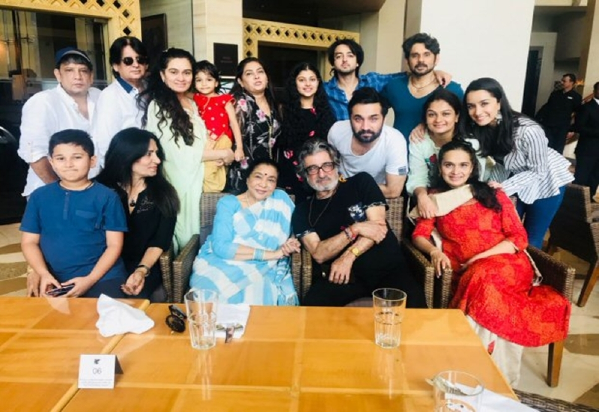 See pics: Shraddha Kapoor celebrates father Shakti's birthday; Asha Bhonsle joins the family celebrations