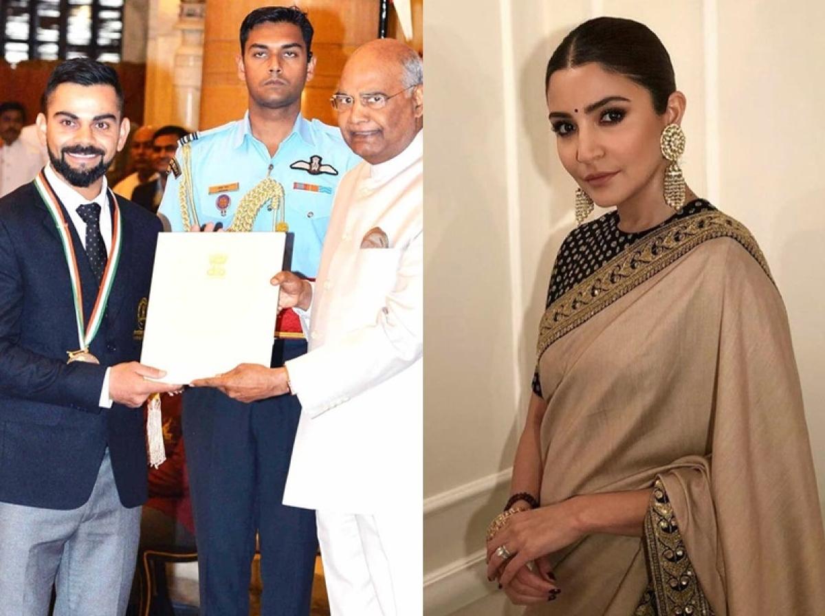 Virat Kohli's Khel Ratna moment overshadowed by Anushka Sharma's glance, Ranveer Singh's comment?