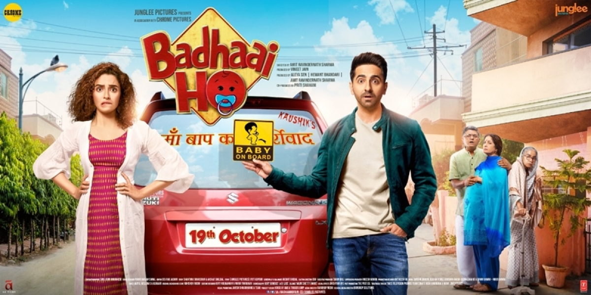 'Badhaai Ho' new posters: Ayushmann Khurrana and Sanya Malhotra look surprised, with pregnant Neena Gupta in backdrop