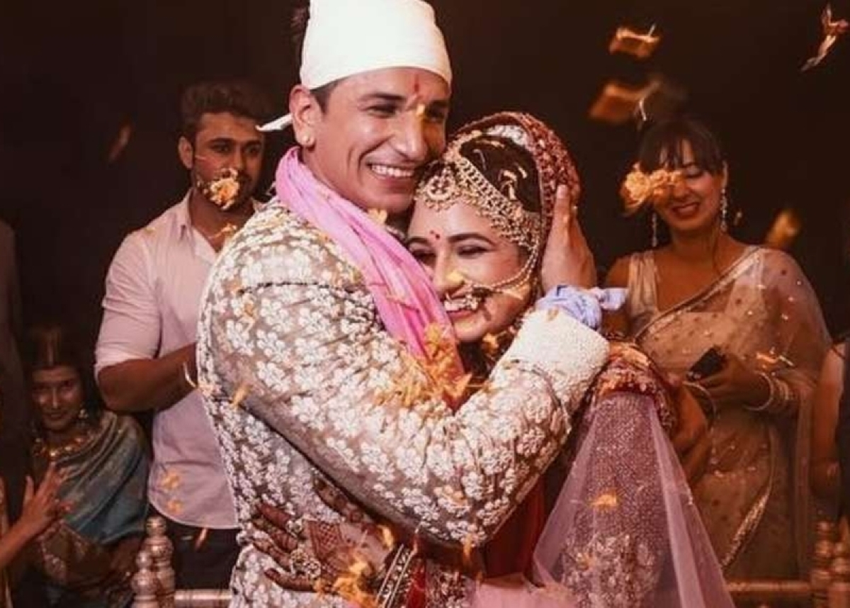 Muah! Prince Narula, Yuvika Chaudhary share their first kiss as newlyweds