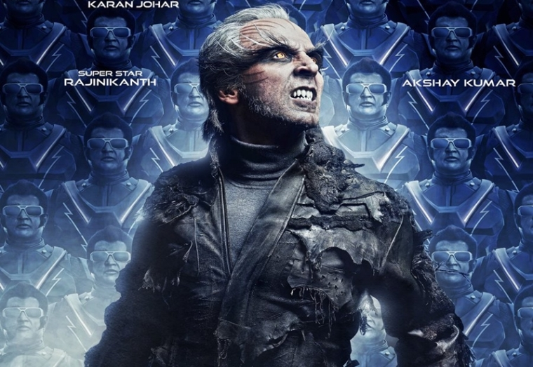 2.0 New Poster: Akshay Kumar looks ruthless in this Rajinikanth starrer