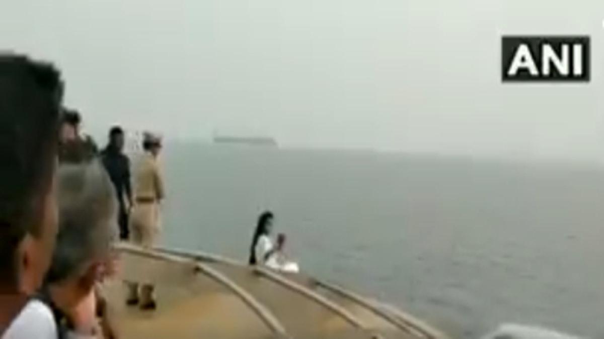 Maharashtra CM Devendra Fadnavis's wife Amruta Fadnavis apologises for selfie on ship, says it wasn't risky