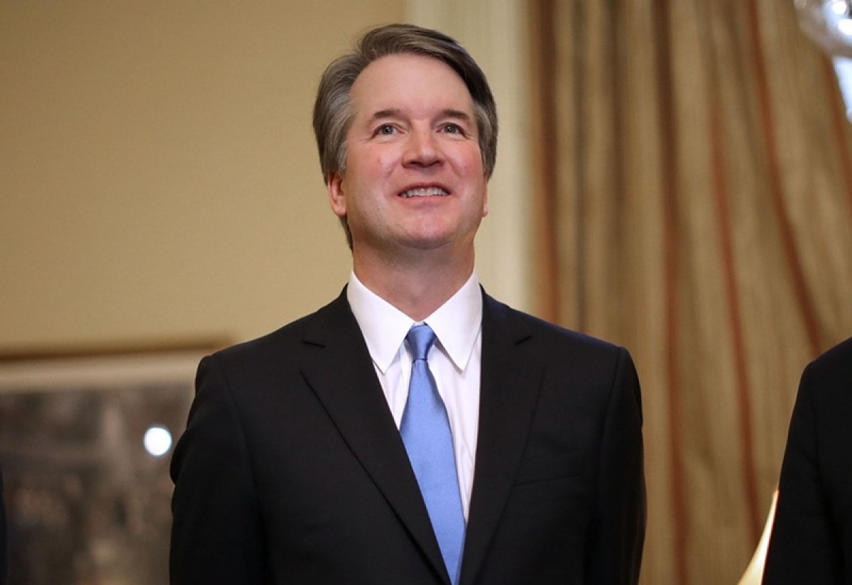 Donald Trump's controversial nominee Brett Kavanaugh sworn in as Supreme Court Judge