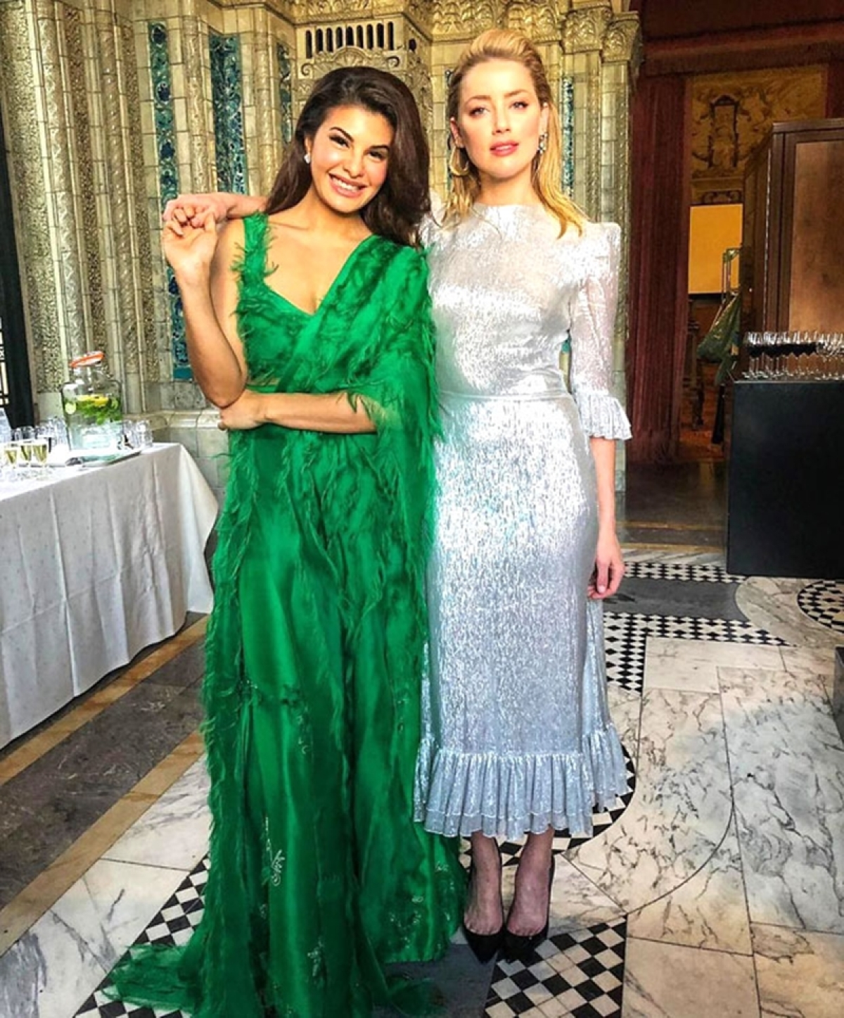 Jab Bollywood Met Hollywood! Jacqueline Fernandez enjoys fun time with 'Aquaman' actress Amber Heard; see pics
