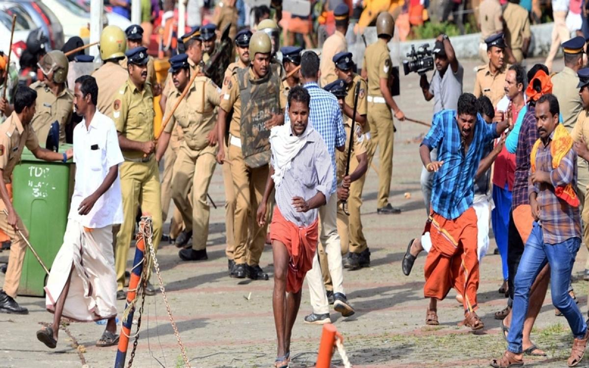 Sabarimala temple protest: Kerala shutdown receives huge response, stone pelting at KSRTC buses