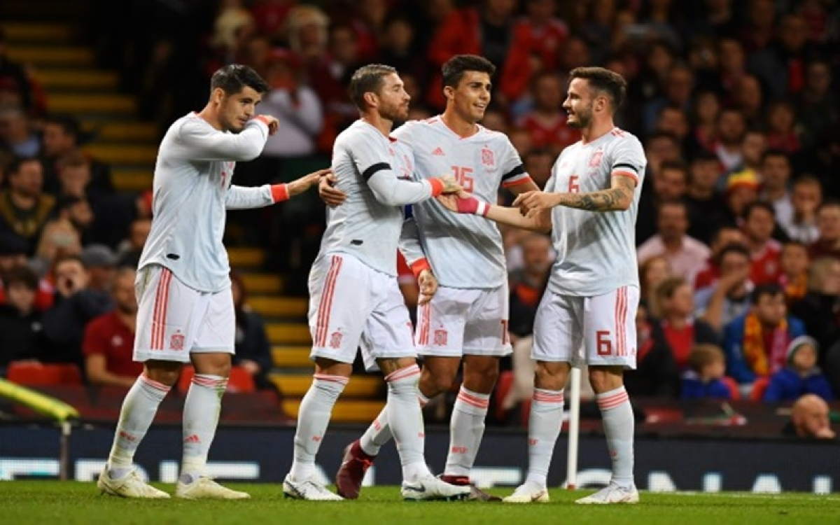 Spain crush Wales 4-1 in international friendly match