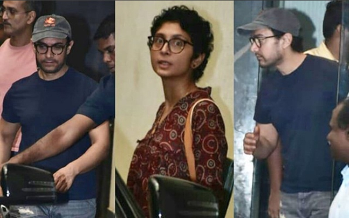 Amidst MeToo, Aamir Khan and Kiran Rao attend meeting at Producers Guild for safer working culture; See pictures