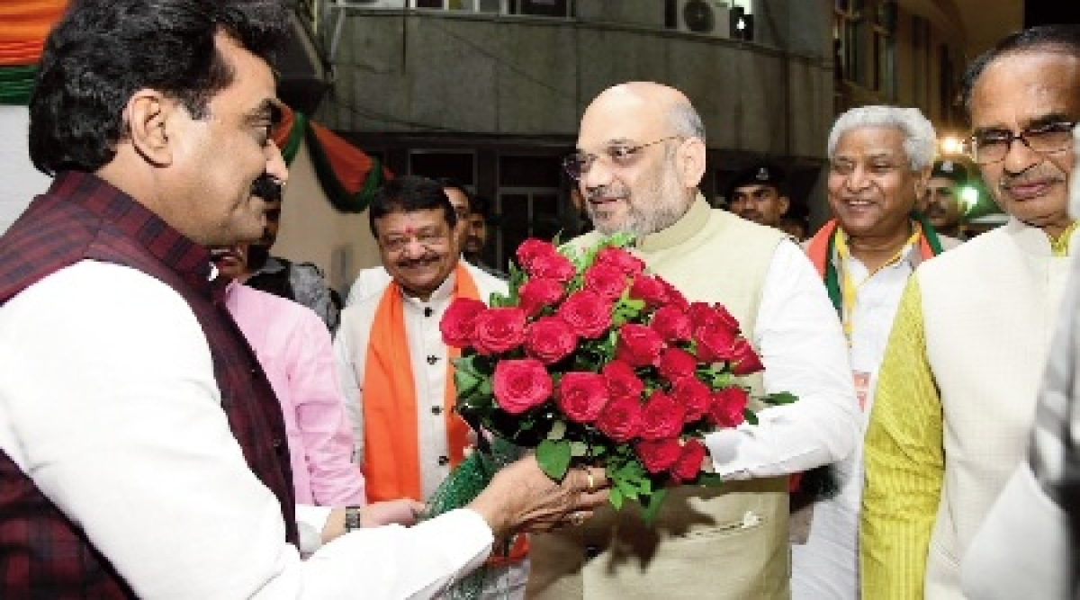 Bhopal: Amit Shah tells leaders to attack Rahul Gandhi, be more aggressive