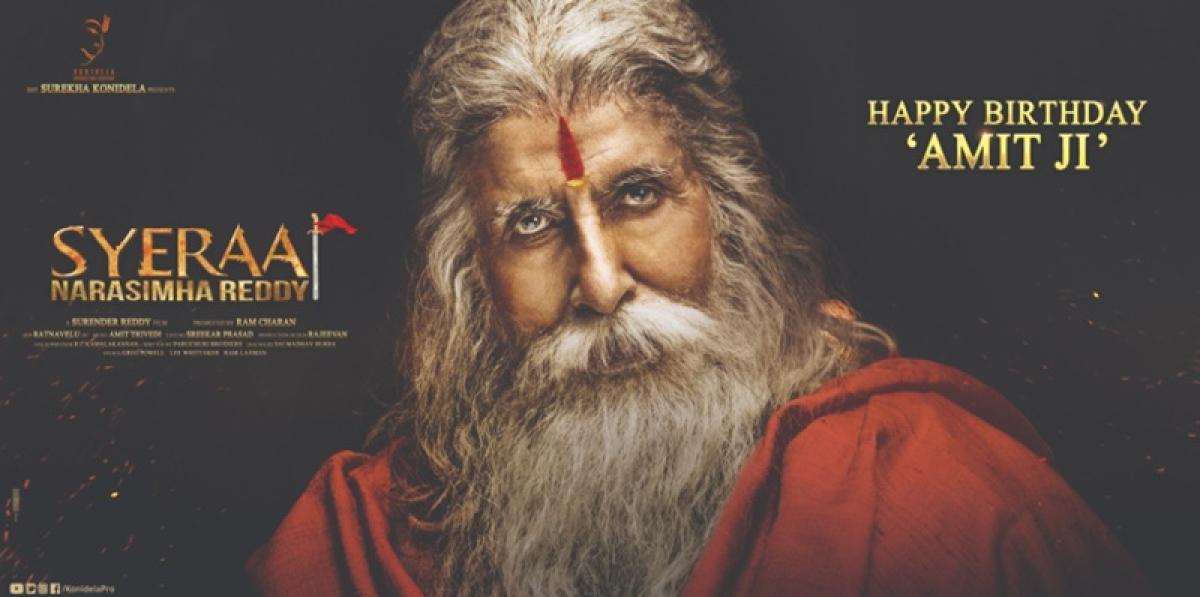 First Look! Amitabh Bachchan looks unrecognisable in 'Sye Raa Narasimha Reddy'