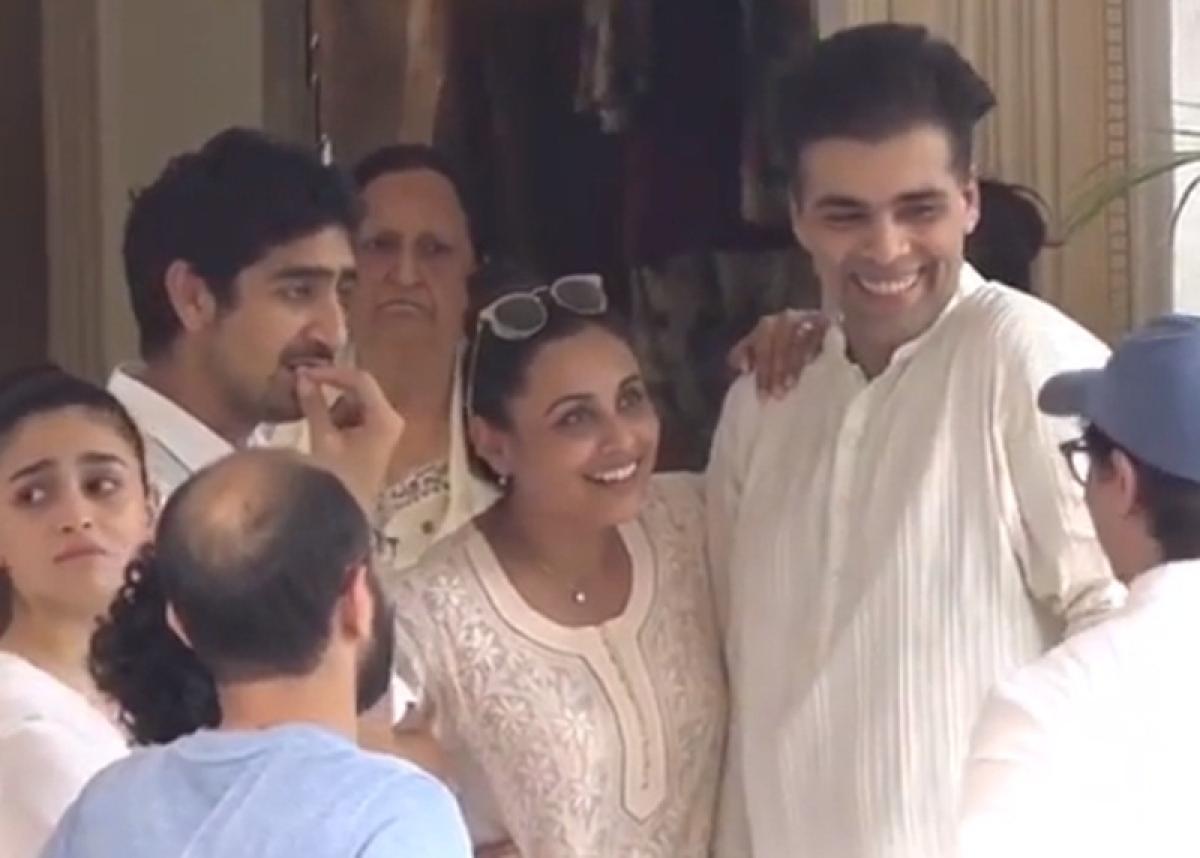 Aamir Khan, Karan Johar, Rani Mukerji trolled by fans for laughing at Krishna Raj Kapoor's funeral