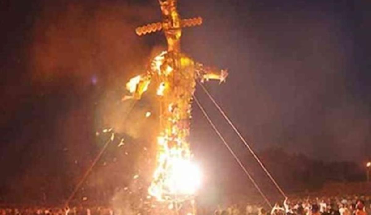 Dussehra 2018: Harassed by wives, men burn effigy of Surpanakha